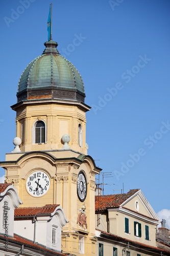 Clock Tower in Rijeka, Croatia