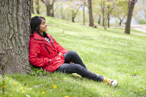 teenage girl in outdoors