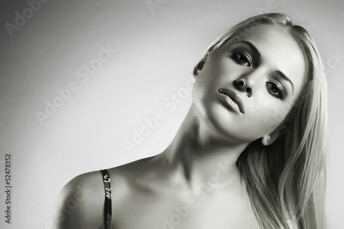 Portrait of beautiful blond woman. Your text here.