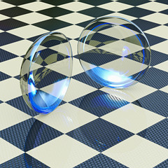 Kontaktlinsen - 3D Render