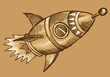 Rocket Sketch Doodle Illustration Vector Art