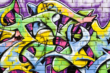 Part of the graffiti