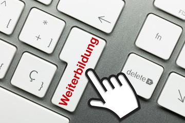 Weiterbildung Tastatur Hand