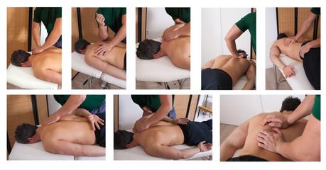 Massaggio muscolare sportivo