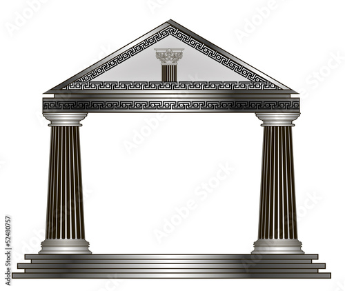 greek temple. eps10 vector illustration