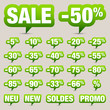 "Icon Set ""Sale Minus"" Green"