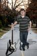 Man with Bass Guitar