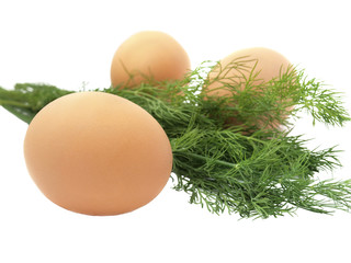 Eggs and dill
