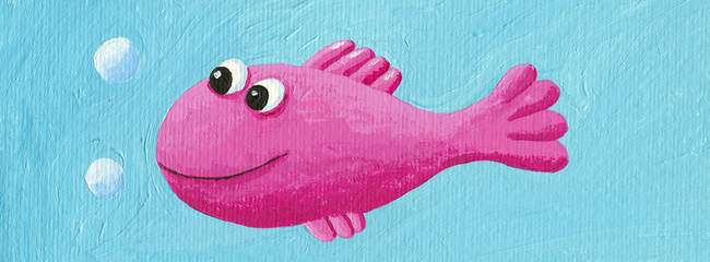 Funny pink fish