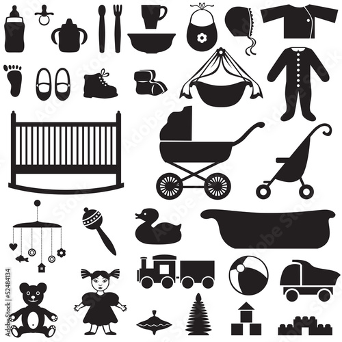 Set of children's things