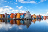 Fototapety Reitdiephaven - colorful buildings on water