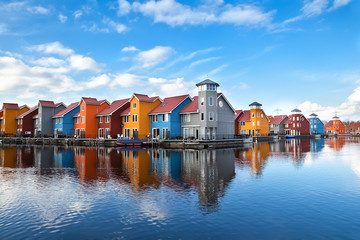 Reitdiephaven - colorful buildings on water
