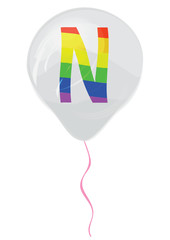 Gay flag alphabet - N