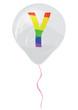 Gay flag alphabet - Y