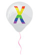 Gay flag alphabet - X