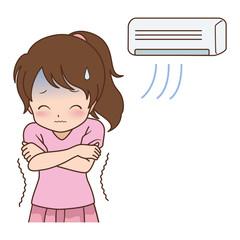 女の子/エアコン