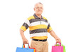 Middle aged gentleman with shopping bags