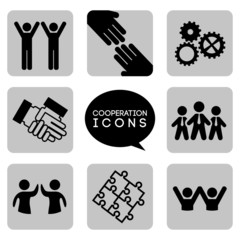 monochromatic cooperation icons