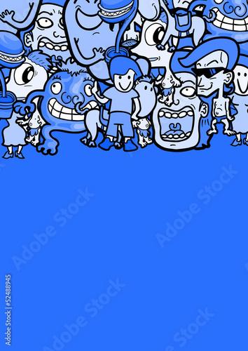 Blue puppet frame