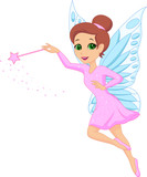 Fototapety Illustration of cute fairy cartoon
