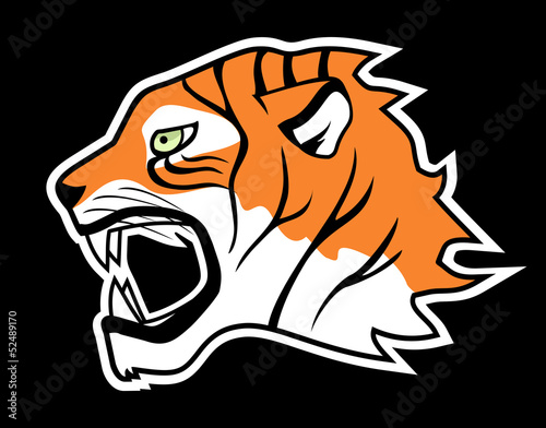 Sticker tiger