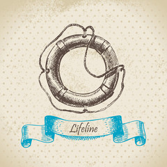 Lifeline. Hand drawn illustration