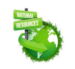 natural resources concept illustration design