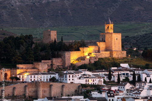 Moorish castle alcazaba in Antequera, Andalusia Spain