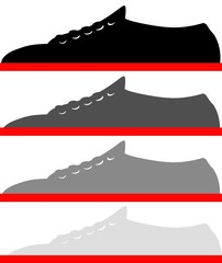 scarpe in mostra