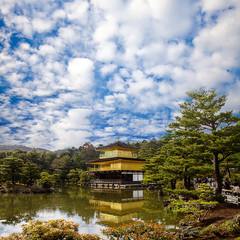 gold temple japan with nice sky for adv or others purpose ues