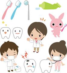 子どものための歯医者さんのイラスト