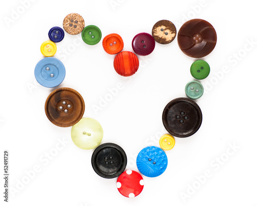 Love vintage - old buttons in a heart shape