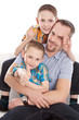 Familie - Vater allein-erziehend mit seinen Kindern