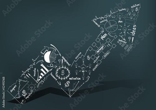 Vector Business success concept