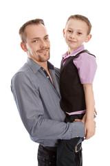 Portrait von Vater und Sohn