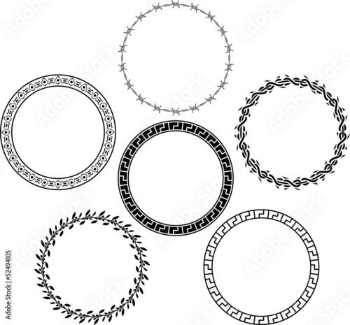 set of rings. stencils