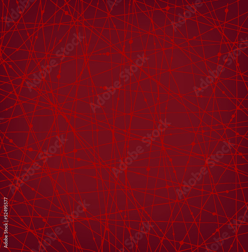 Linear red network texture with dots