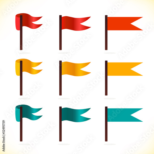 Set of vector flags