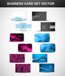 abstract Various 6 Business Card presentation set collection vec