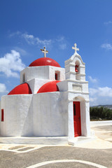 Classical church of Mykonos island in Greece