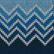 Seamless Knitted Stylized Geometric Pattern with Wave