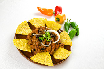 Nachos and chili con carne