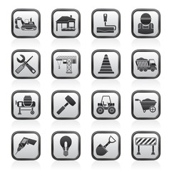 Building and construction icons - vector icon set