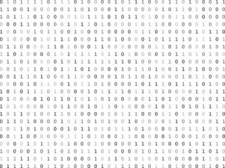 Flat binary code screen listing table cypher