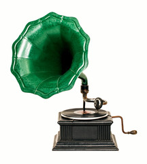 Vintage gramophone record player