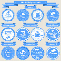 Fresh milk and dairy labels