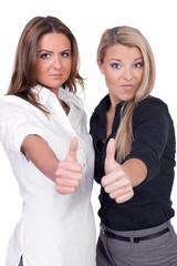 Women thumbs up