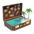 Tropical trip suitcase