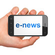 News concept: E-news on smartphone