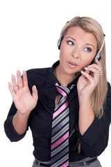 Young call center agent